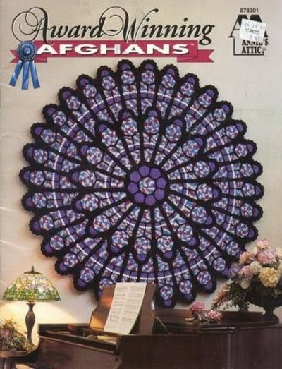 Free Crochet Pattern For Cathedral Window Afghan : Cathedral Rose Window Afghan Crochet Pattern New Circle ...