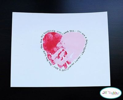 Preschool Valentine S Day Card Handprints Valentine Ideas Juxtapost