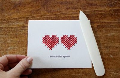 Hearts stitched together printable and tutorial