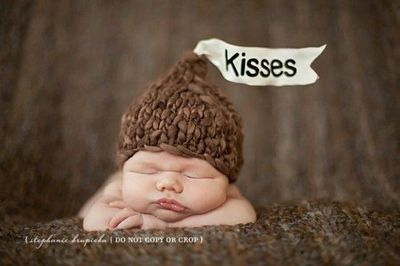 Crochet Baby Hershey Kiss Hat Pattern : hershey kisses baby crochet hat / Knits and stitch - Juxtapost