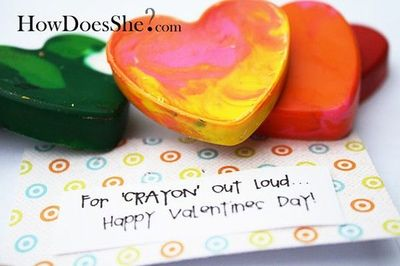 """For 'Crayon' Out Loud...Happy Valentine's Day!"" Adorable idea! (crayon tutorial included, it's really easy!)"