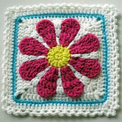 Gerber Daisy Afghan Square Link To Pattern If You Join