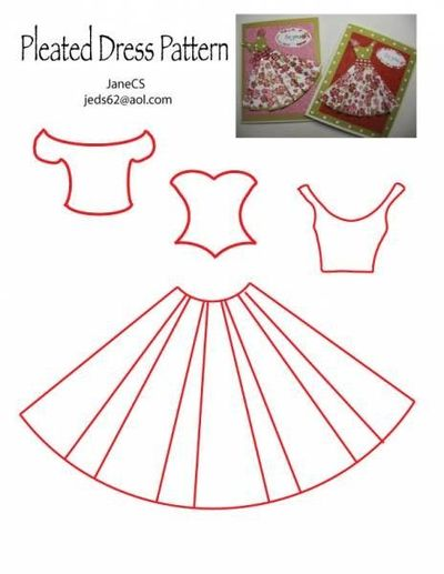 Dress Pattern Could Use For Quilled Dolls Papercraft Juxtapost