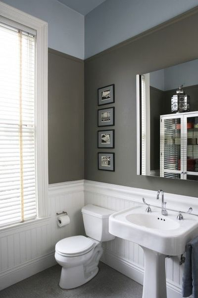 Home design idea bathroom ideas gray walls for Grey bathroom decorating ideas