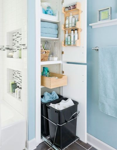Merveilleux Love Dirty Laundry Storage In Bathroom As Well As Nooks In Shower