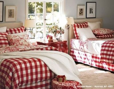 Red Buffalo Check Toile For The Bedroom Juxtapost