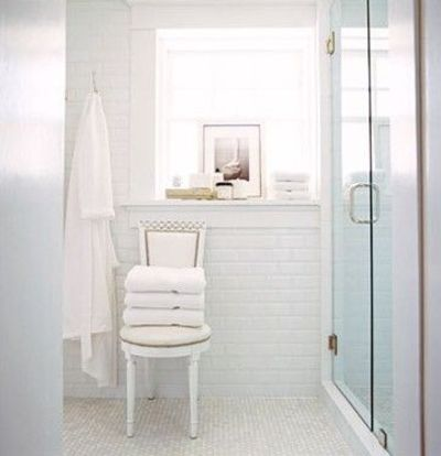 clean white bathroom design white subway tiles backsplash