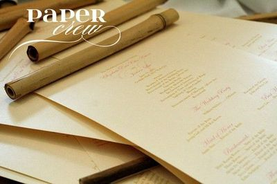 Awesome Bamboo Scroll Wedding Invites... maybe I can get the bamboo pieces from