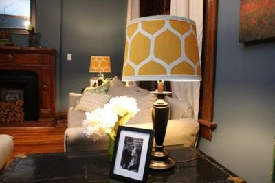 Diy Project Acrylic On Linen Painted Lamp Shades For