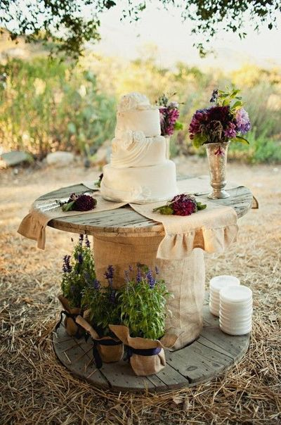 Having A Outdoor Country Wedding...try This Creative Idea For Showcasing  Your Wedding
