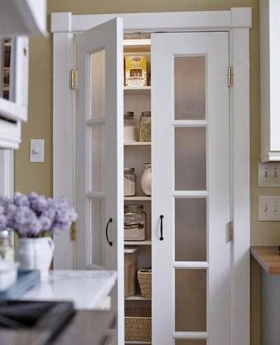 Replace your current plain pantry door w a frosted glass for Replacement french doors