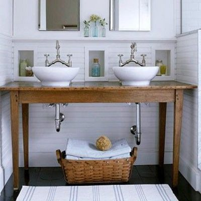 Beautiful Like The Vanity [table Turned Vanity] #Bathroom