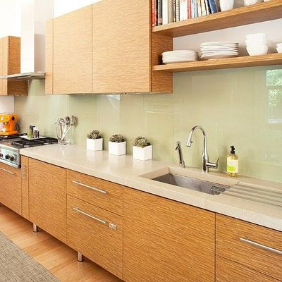 Sheet Glass Backsplash