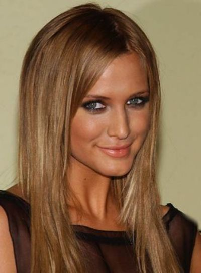 Dark blonde/ light brown hair with extensions on Ashley Simp... / make ...
