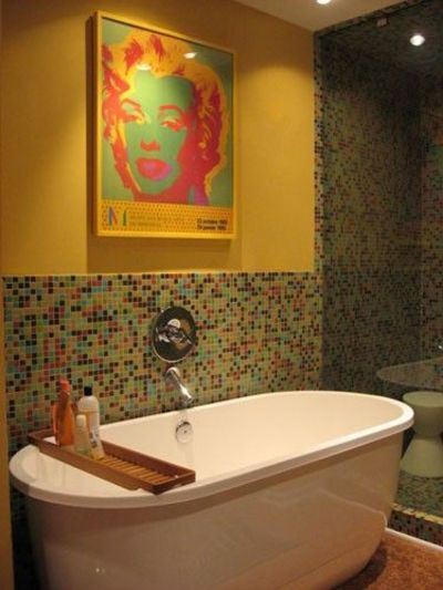 Half tiled bathroom bath ideas juxtapost for Bathroom ideas half baths