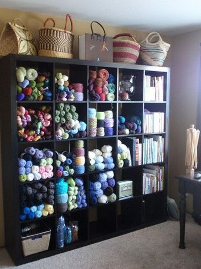 Craft Room Expedit Yarn Storage Like The Pattern Tote And
