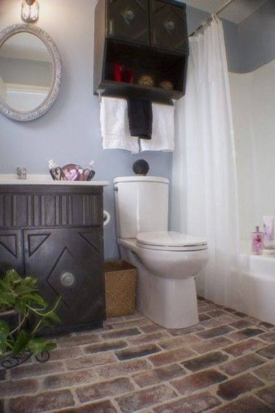 vintage brick bathroom floor bath ideas juxtapost