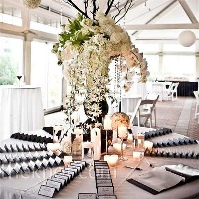 Missi\'s blog: My DIY centerpiece on the seating card table wedding ...