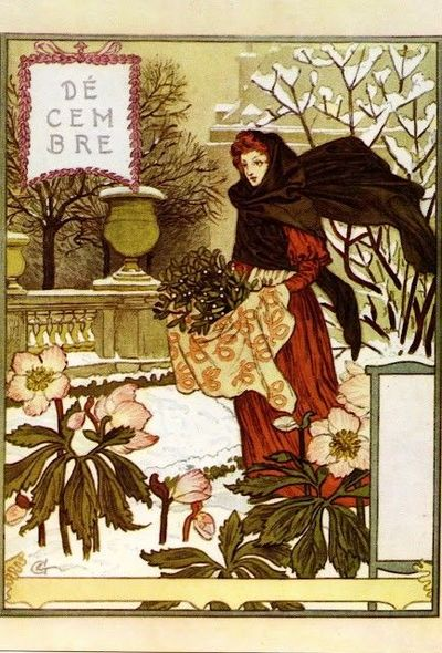 """Turn of the Century""La Belle Jardiniere �€"" Décembre ,1896 by Eugene Grasset"