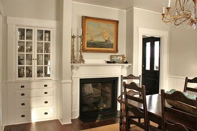 Built Ins And Mantle The Wall Color Is Benjamin Moore 39 S For The Home Juxtapost