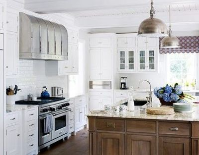 Although the house's exterior is Spanish Revival, the owners wanted a  clean-scrubbed Nantucket