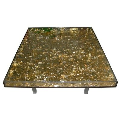Gold Leaf Coffee Table Gold Leaf Plexiglass Coffee