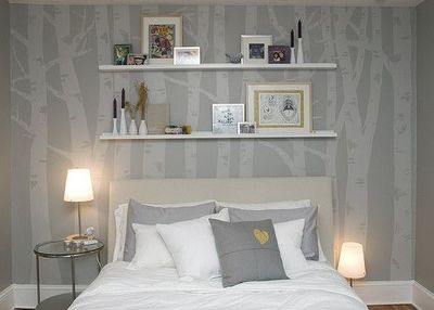 Diy birch tree wall murals for the bedroom juxtapost for Diy birch tree mural