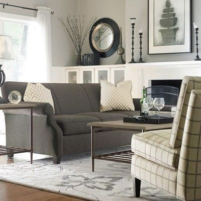 Gray Couch With Taupe Y Gray Walls For The Home Juxtapost