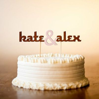 The Classic Wedding Cake Topper Typography Ampersand In L