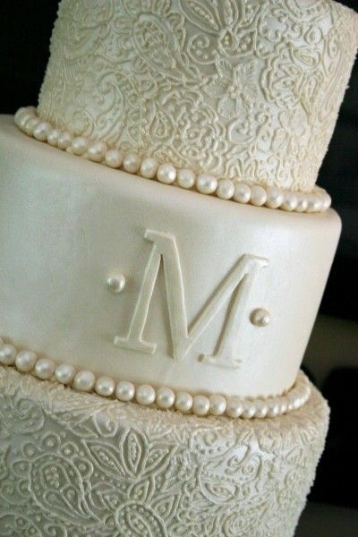 Love Love Love Pearlescent Fondant With Hand Piped