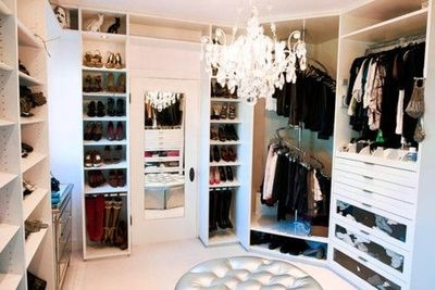 A Walk In Closet With A Chandelier Thatus Fine I Also Like How The With Closet  Chandelier.
