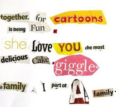 word choice activity: kids make a word collage using words they like. This could be kept in the writing binder.