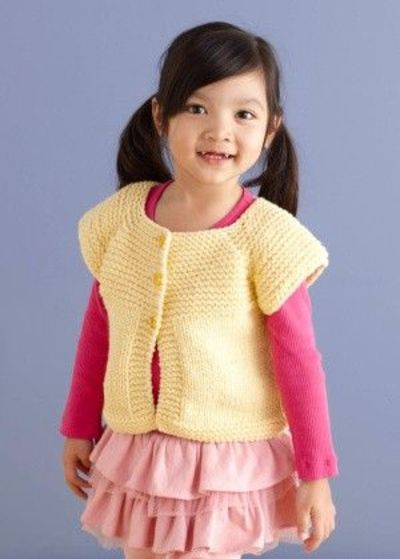 Neck Down Cardi, free pattern