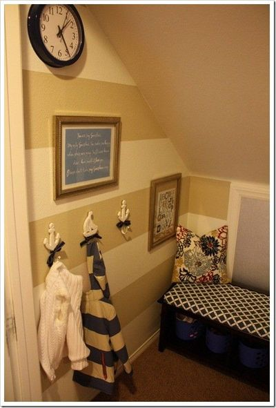 Mini Mudroom Under Stairs For The Home Juxtapost