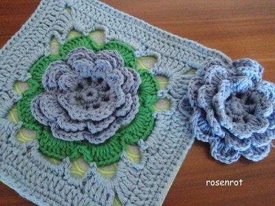 Printing Page For The Irish Rose Square Medallion Free Pattern