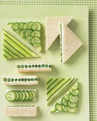 Cucumber and low fat cream cheese spread sandwiches!