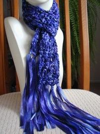 one ball ribbon scarf