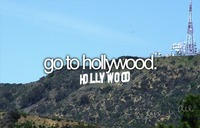 I want to visit Hollywood and take a picture like i'm holding the Hollywood sign.