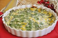 Crustless Spinach Quiche, but with ham...