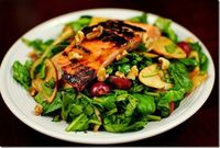 raspberry vinaigrette salad with salmon
