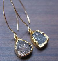 Love these agate druzy earrings.