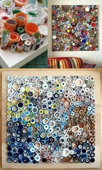 rolled paper collage