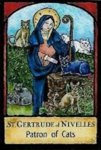 Happy St Gertrude's Day - patron saint of gardens (and cats!)