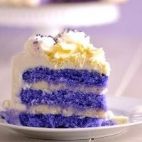 Purple Velvet Cake....what a great idea for a girls birthday!