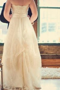 ivory dress with ivory band. simplicity