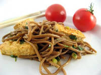 Crabby Cook: Otsu - Soba Noodle Salad with Pan Fried Tofu or Should Eat Foods