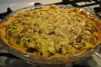 Mushrooms And Bacon Quiche: Delicious quiche; simple and quick to make. You could easily change the vegetables to your favorite...[read more at Food Frenzy]
