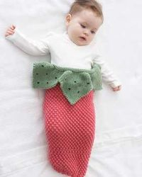 Strawberry Cocoon (knit)