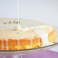 Limoncello Pound Cake with Lemon Curd Filling