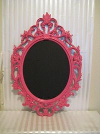 I have one of these frames just sitting around that we should paint...maybe not that colour, but something.